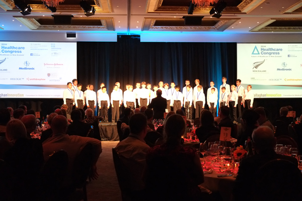 Auckland Boys Choir Langham Hotel performance 2014