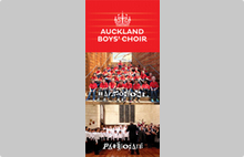 Auckland Boys' Choir generic flyer